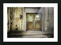 Power Plant Door 1 Picture Frame print