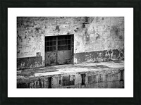 Power Plant Door 2 BW Picture Frame print