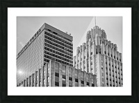 Winston Tower and Reynolds Building BW Picture Frame print