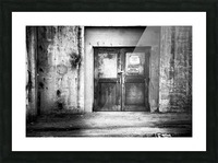 Power Plant Door 1 BW Picture Frame print