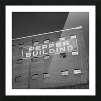Pepper Building Picture Frame print