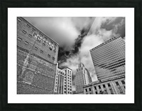 Winston Salem Builldings BW Picture Frame print