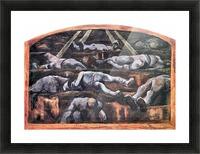 Dead victims, design (II) by Albin Egger-Lienz Picture Frame print