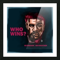 mayweather conor Picture Frame print