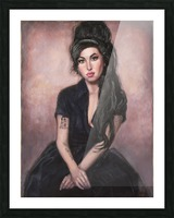 Amy in black  Picture Frame print