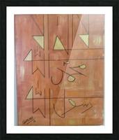 ahson qazi KAlmaGeometrical CalligraphyGolden 12x16canavas wth acrylic Picture Frame print