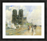 Cathedral of Notre Dame, 1888 by Hassam Picture Frame print