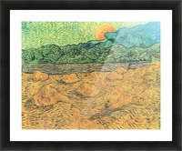 Evening landscape at moonrise by Van Gogh Picture Frame print