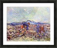 Farmers at work by Van Gogh Picture Frame print