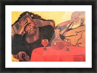 Father and uncle with the red wine  by Joseph Rippl-Ronai Picture Frame print