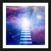 Steps up into cosmos Picture Frame print
