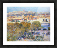 Central Place and Fort Cabanas, Havana by Hassam Picture Frame print