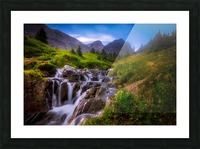 Chasing Waterfall  Picture Frame print