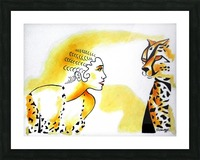 Cat Eyes Picture Frame print
