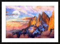 Colorado Mountains - Digital Painting III Picture Frame print