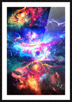 Colorful Galaxy  Picture Frame print