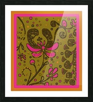 Day-glo Flower Abstract Picture Frame print