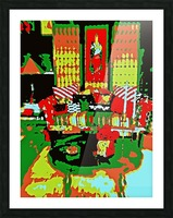 The Striped Sofa -- Red & Green Picture Frame print