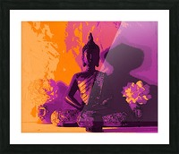 Buddha Altar -- Sunset Colors Picture Frame print