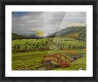 Sunshine Bridge at Cartecay Vineyard Picture Frame print