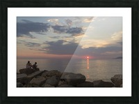 Sunset in Acciaroli Picture Frame print