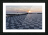 Sunset in Livorno - Piazza Mascagni Picture Frame print