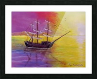 Sunset Sail Picture Frame print