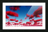 Deep Red Clouds Picture Frame print