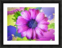 Purple Storm Picture Frame print
