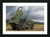 A M142 High Mobility Artillery Rocket System. Picture Frame print