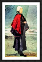 Fisherwoman on the shore by Van Gogh Picture Frame print