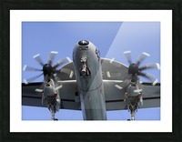 An E-2C Hawkeye prepares for landing. Picture Frame print