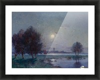 The Bank of Loire under Clear Moon Picture Frame print