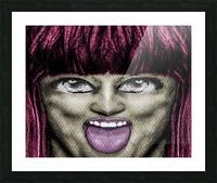 Daring Pop Teen Portrait Picture Frame print