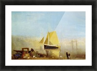 Fishing boat in a mist by Joseph Mallord Turner Picture Frame print