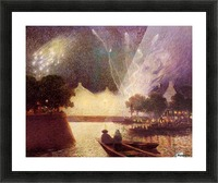 Clear Moon above the Baks of the Loire Picture Frame print