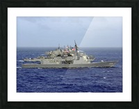 JDS Atago sails in formation with U.S. Navy and Japan Maritime Self Defense Force ships. Picture Frame print