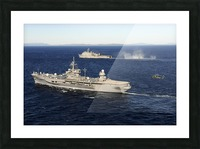 USS Blue Ridge conducts flight operations in the Coral Sea while underway with  USS Germantown. Picture Frame print