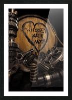 Whiskey Art Moto Picture Frame print