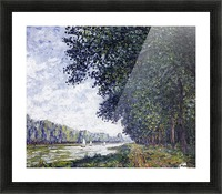 Canal of Moret, Winter Effect Picture Frame print