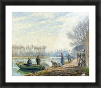 Fishermen at Moret-sur-Loing Picture Frame print