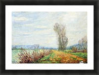 Morning Effect, Bank of the Yonne Picture Frame print