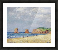 Twin Rocks at Hendaye Picture Frame print