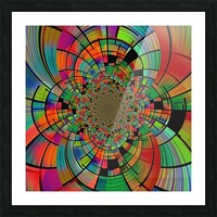 Colorful Geometric Fractal Picture Frame print