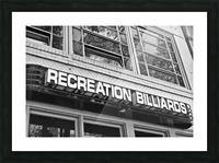 Billiards Picture Frame print