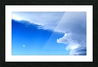 partly cloudy moon Picture Frame print