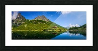 Mountain cottage at the Zelene pleso Picture Frame print