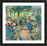Young Girl near the Well Picture Frame print