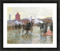 Clearing Sunset (Berkeley Street and Columbus Avenue) by Hassam Picture Frame print