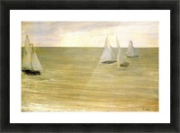 Grey and green the silver sea by Whistler Picture Frame print